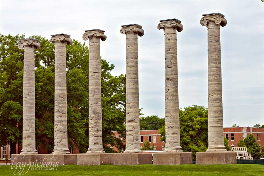 Columbia Mo UMC columns on Francis Quad