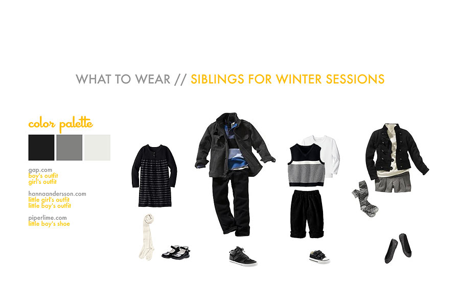 what to wear for winter photo session