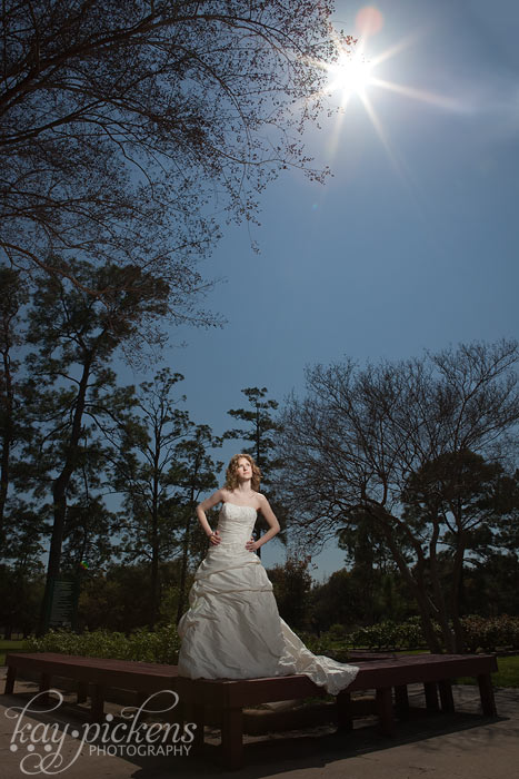 Bride with sunflare