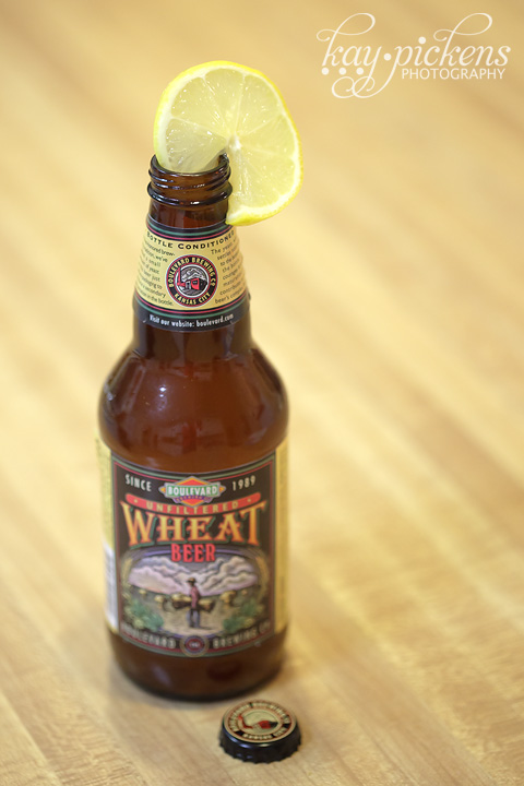 boulevard wheat beer with lemon