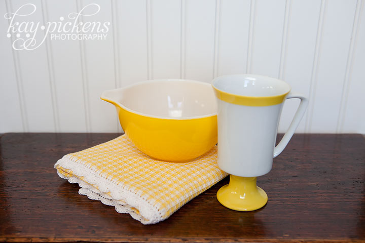 yellow food photography props