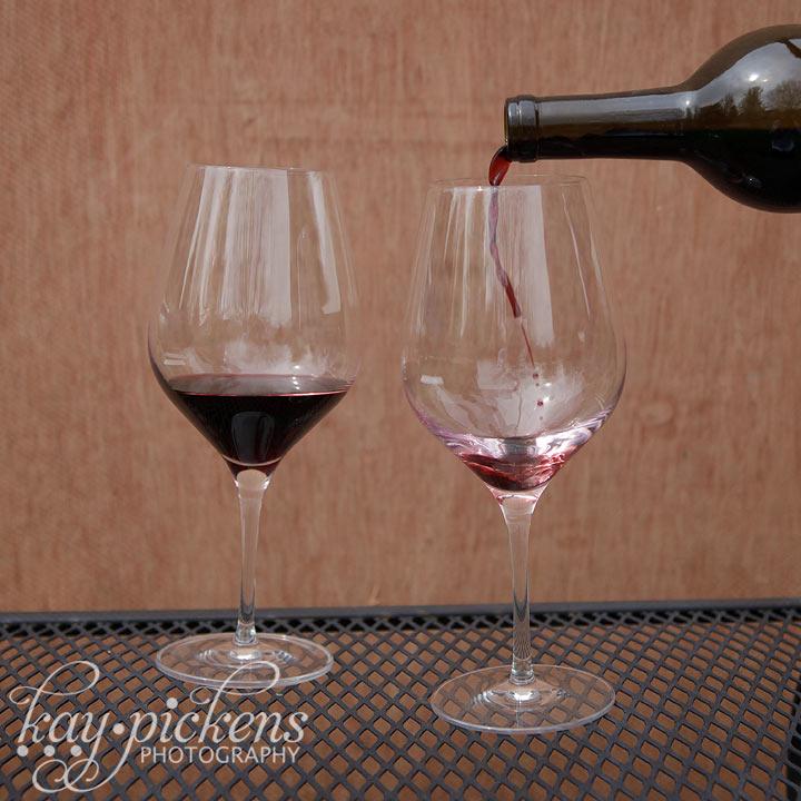 splash of red wine