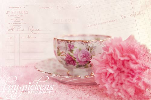 tea cup and carnation